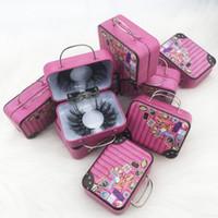 تصميم جديد 3D / 5D / 6D رمش المنك حالة التعبئة والتغليف حقيبة صغيرة للتعبئة والتغليف جلدة في حقيبة أمتعة مربع حزمة حقيبة