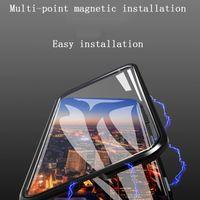 아이폰에 대 한 최대 전화 케이스 2 세대 양면 유리 마그네틱 금속 프레임 전화 케이스 지원 2PCS 배달 / 도매