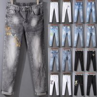 man jeans High quality Mens jeans Distressed Motorcycle bike...