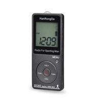 Ricevitore radio portatile FM / AM Radio LCD LCD Display Lock Pocket Pocket Radio con auricolare Pedometro Sport HRD-602