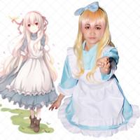 Peruk Tam Set (Asya Boyut) ile Cadılar Bayramı Anime Projesi Kozakura Mari Mekakucity Aktörler Cosplay Kostüm Kimono Elbise Meidofuku Üniforma