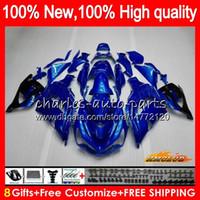 OEM iniezione per Kawasaki ZZR1400 ZX 14R 2006 2007 2008 2009 2010 2011 49HC.15 ZX14R ZX14R ZZR1400 06 07 08 09 10 11 carenatura blu lucido
