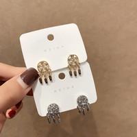 Diamant Traumfänger Ohrringe für Frauen Luxus-Designer-bling Diamant Gold-Silber-Traumfänger-Tropfenohrringe Art und Weise jewerly Geschenk