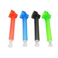 Toppuff Top Puff tubo di plastica acrilica multi colore Lettera Stampe del narghilé del tubo Viaggi fumatori Acqua Tubi Accessori 79 millimetri 5GL E1