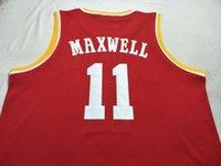 Vintage # 11 1993-94 Vernon Maxwell Bsaketball Red Jersey Größe S-4xlor Custom Jeder Name oder Nummer Jersey