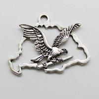 20 unids / lote gran águila del Tíbet de plata encantos de los colgantes de la joyería DIY para el collar pendientes de la pulsera estilo retro 42x31mm