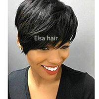 hort Human Hair Wigs For Black Women Straight Brazilian Pixi...