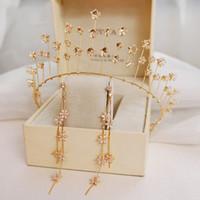 Высший Сорт Принцесса Золотые Кристаллы Свадебные Диадемы Короны Свадебные Головные Уборы Свадебные Аксессуары Свадебные Диадемы/Короны T308833
