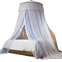 Mosquito net 2 strati hung dome letto a baldacchino tende tende tende tenda principessa