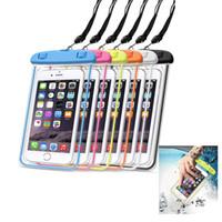 حقيبة شاطئية عالمية ضد الماء لـ iPhone 7 XR حقيبة شفافة مضيئة لـ Samsung LG تحت هاتف 6 بوصة لـ Samsung LG
