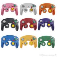 다채로운 상자와 NGC 닌텐도 GC 게임 큐브에 대한 플래티넘 (22) 색상에 대한 뜨거운 판매 유선 게임 컨트롤러 게임 패드 조이스틱