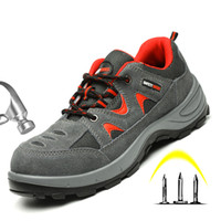 Breathable Safety Work Shoes For Men Shoes Male Steel Toe Ca...
