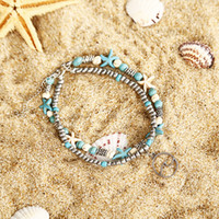 Conch Starfish Mizhu Beach Turtle Pendant Anklet Lady Romantico Sweet Beach Big Anklet Bracelet