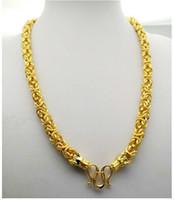 Estilo mixto 24k de oro amarillo relleno collar de cadena Colorfast Fake Od Gold Cadens de la joyería Diseño múltiple para elegir