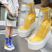 Women' s transparent boots 2018 new European and America...