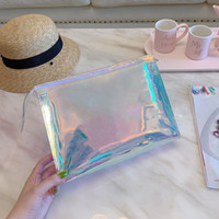 ألوان مبهرة أكياس مخلب الليزر الشفافية pvc براثن مصمم أزياء المرأة حقائب اليد شفاف غسل حقيبة بريليانت ملون المحافظ حقيبة