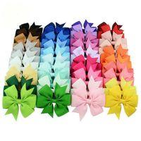 40 Cores 3 polegadas Swallowtail Ribbon Bow Bandas De Cabelo Para Meninas Bohemian Hairpins Scrunchy Korean Kids DIY Acessórios De Cabelo Melhor Presente