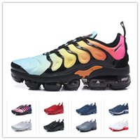 2019 Air Designer Shoes Tn Plus Naranja Negro Hombres Mujeres Zapatos para correr Bleu Print Lemon Lime Bumblebee Royal Trainers Sports Sneakers 45