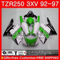 Gehäuse für YAMAHA TZR 250 grün weiß heiß TZR250 3XV 92 93 94 95 96 97 YPVS RS 119HM.98 TZR250RR TZR-250 1992 1993 1994 1995 1996 1997 Verkleidung