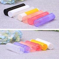 Fábrica Dropshippng bricolaje Vacía brillo de labios tubos de plástico transparente 5g bálsamo labial Lipgloss Tubos envases cosméticos de maquillaje botellas de embalaje B2803
