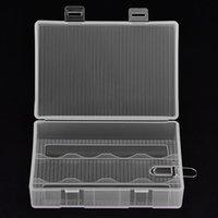 VBESTLIFE beweglicher Batterie-Kasten-harte PP transparenter Fall Halter-Aufbewahrungsbehälter für 4 x 26650 Batterien (nicht enthalten) mit Haken 30