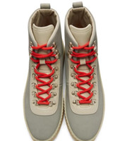 Горячие продажи-2019 дизайнер мужской обуви Air Страх Божий 1 Человек Обувь ВОГ Сапоги Light Bone Черный парус мужчин сапоги