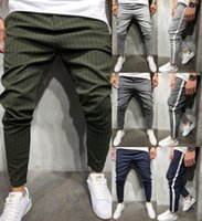 Men' s Twill Fashion Jogger Pants 2018 New Stripe Urban ...