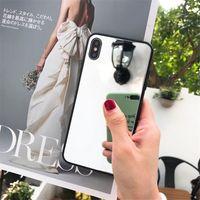 ل iPhone XR XS Max Mirrior Phone Case لينة TPU Edge مع Glass Mirrior Back Cover for iPhone 7 8 Plus 6 6s