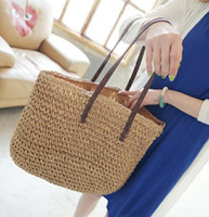 94a8fa4b3 Wholesale straw handbags for sale - Group buy Women Summer Straw Beach Bag  Tote Handbag Summer