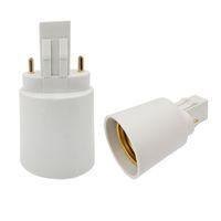 GX23 Male to E27 E26 Female 2 Pin GX23-E27 Converter Lamp Adapter GX23 to E27 Adapter