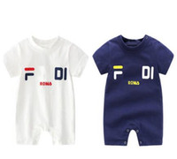 Baby Boys Girls Rompers brand label Kids Cotton Jumpsuits In...
