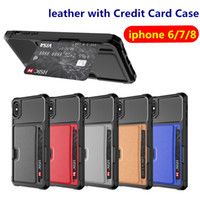 Wallet PU Leather Cover For iphone 6 7 8 Plus Common iphone ...
