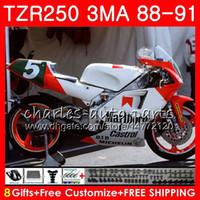 바디 용 YAMAHA TZR250 3MA TZR-250 1988 1989 1990 1991 118HM.48 TZR250 RS RR YPVS 실버 카울링 TZR250RR TZR 250 88 89 90 91 페어링 키트