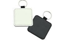 10pcs Keychain Sublimation vierge PU Keychain Accessoires Tassel Key Bague Sac Pièces