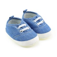 2019 New Infant Boys Casual Shoes Denim Blue Fashion Sneakers Baby First Walkers Zapatos para niños pequeños 1 par