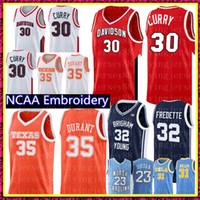 Maglia Stephen Curry 30 NCAA Kevin Durant 35 32 Jimmer Fredette Brigham Young Cougars pullover di pallacanestro uomini all'ingrosso a buon mercato