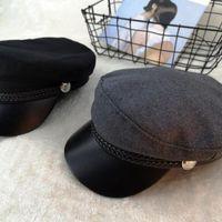 femmes beret go Béret marine décontracté avec le chapeau d'artiste en tête à plat rétro britannique tendance navire libre