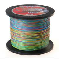 1000M Cromático Multicolor rentable Super Cast 8 filamentos Línea de pesca trenzada 10-170LB Línea PE Alto rendimiento de alta calidad