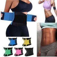 8 colores más el tamaño de la cintura mejor entrenador para las mujeres sauna Sudor Termo Reductora debajo del corsé Yoga Deporte talladora de la correa de la cintura delgada de entrenamiento Soporte