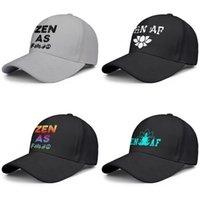 baseballhats na moda dum raio Direito Zen Af para homens e mulheres com tela ajustável de esportes cap golfe personalizado AF Essência Espiritual flash de ouro