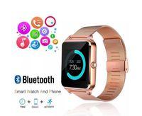 Tarjeta inteligente Reloj Bluetooth del teléfono Z60 acero inoxidable Soporte SIM TF Cámara rastreador de ejercicios GT08 GT09 DZ09 V8 SmartWatch para iOS Android