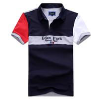 New Eden Park Summer Best Selling Männer Polo kurze Top-Qualität Mode lässig Entwurf Homme Polo Männer-Polo Frankreich Art große Größe M bis 3XL