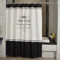 Alta Qualidade Royal Chuveiro Cortinas Europeias Engrossar Poliéster Impermeável Banheiro Duche Curtain América Estilo Cortina de banho com ganchos