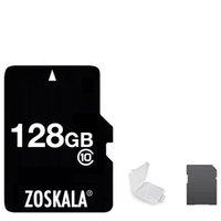 2020 100 % 정품 Zoskala 리얼 전체 클래스 10 256기가바이트 1백28기가바이트 64기가바이트 32기가바이트 16기가바이트 TF 플래시 메모리 카드 + 무료 SD 어댑터