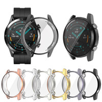 TPU pour montre Huawei GT 42mm 46mm Smartwatch Plaquant Couverture anti-choc anti-rayures Cadre transparent Shell