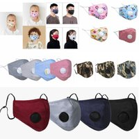 15styles kids adult valve mask printed cartoon striped camouflage mouth cover dustproof earloop protective designer mask FFA4086