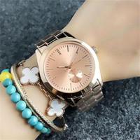 OO мужские женские кварцевые часы поддельные 1-глаз циферблат стиль металл стальной браслет классический простой дизайн Моды кварцевые часы Бесплатная доставка
