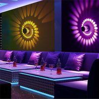 RVB Spiral Hole LED Wall Lights Lampe murale avec télécommande colorée pour la décoration de la fête de la barbby KTV