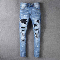 New AMIRI jeans designer mens jeans summer thin pant top qua...