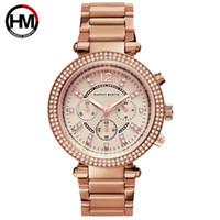 Donne Orologi HM diamante oro rosa signore degli orologi donne del braccialetto magnetico della vigilanza per la femmina Orologio